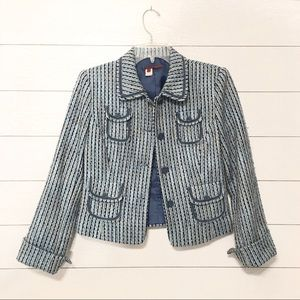 Anthropologie Tapemeasure tweed blazer